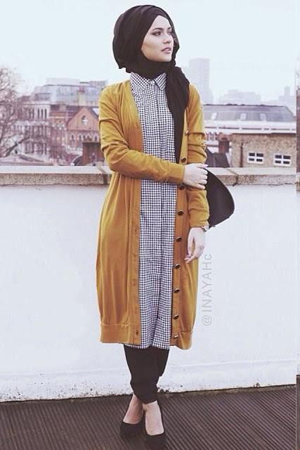 صورة لبس بنات محجبات , اناقه ملابس المحجبات
