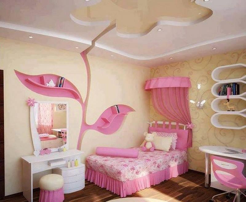 صورة ديكور غرف نوم بنات , احدث ديكورات غرف البنات