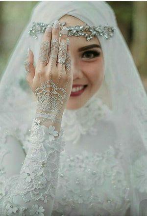 بالصور فساتين زفاف للمحجبات , احدث فساتين فرح للمحجبات 2655 5
