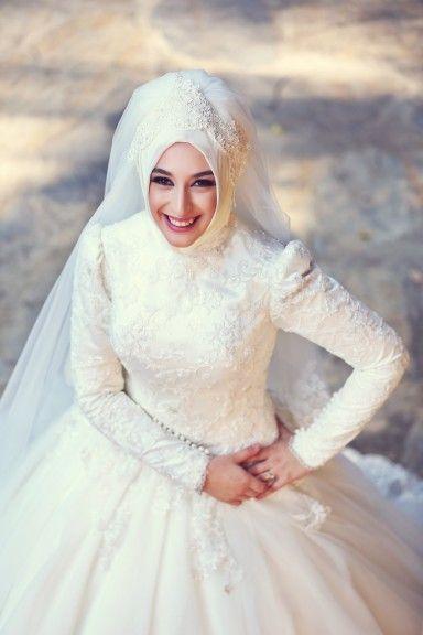 بالصور فساتين زفاف للمحجبات , احدث فساتين فرح للمحجبات 2655 7