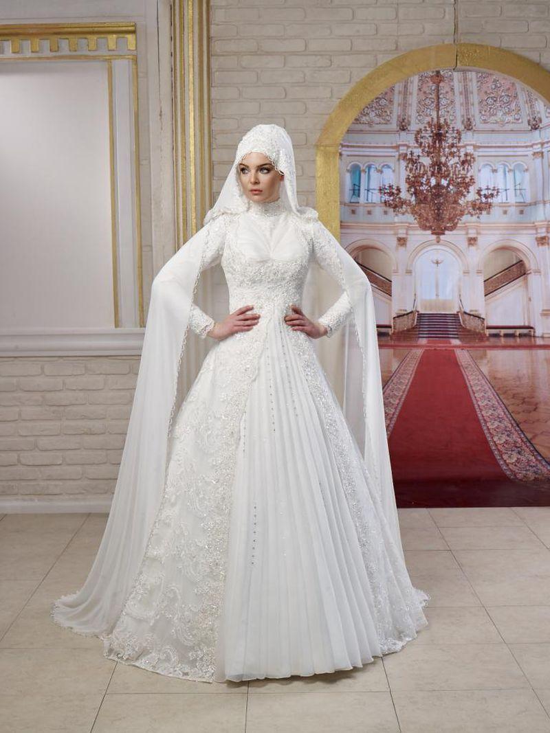 بالصور فساتين زفاف للمحجبات , احدث فساتين فرح للمحجبات 2655 8