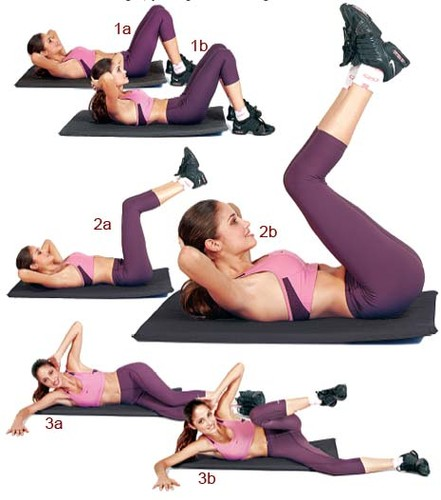 صورة تمارين عضلات البطن , ماهى افضل حركات رياضيه لشد المعده