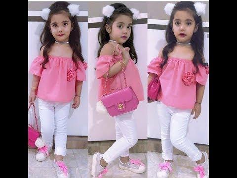 d520a1c71 احدث ملابس الاطفال البنات; ملابس العيد للاطفال 2019 ...