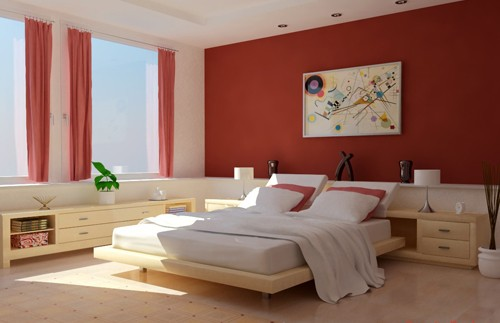 صور دهانات غرف نوم , الوان جميله لحائط اوضه نومك