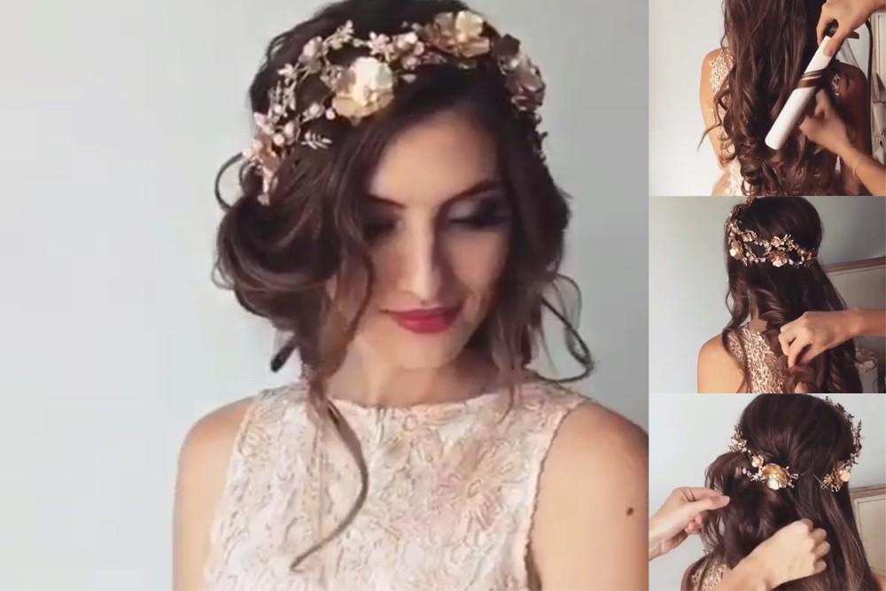 بالصور احلى تسريحه عروس , اجمل واحدث فورمة شعر للعروسه 3122 13