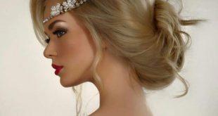 صور احلى تسريحه عروس , اجمل واحدث فورمة شعر للعروسه
