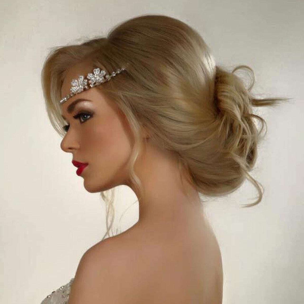 بالصور احلى تسريحه عروس , اجمل واحدث فورمة شعر للعروسه 3122