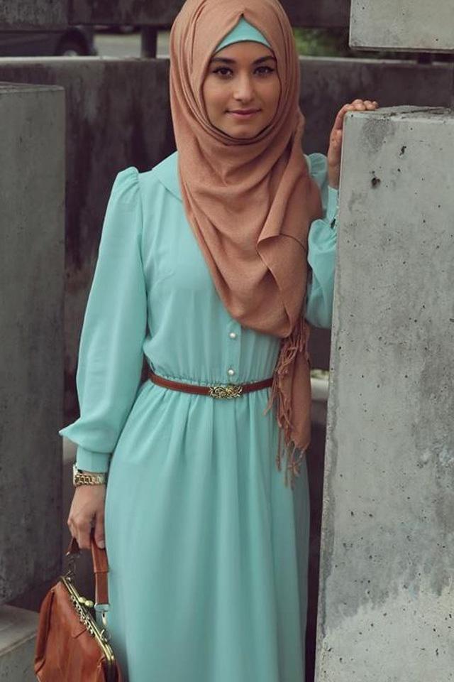 بالصور صور فساتين للمحجبات , اجمل صور الفساتين للمحجبات 3676 1