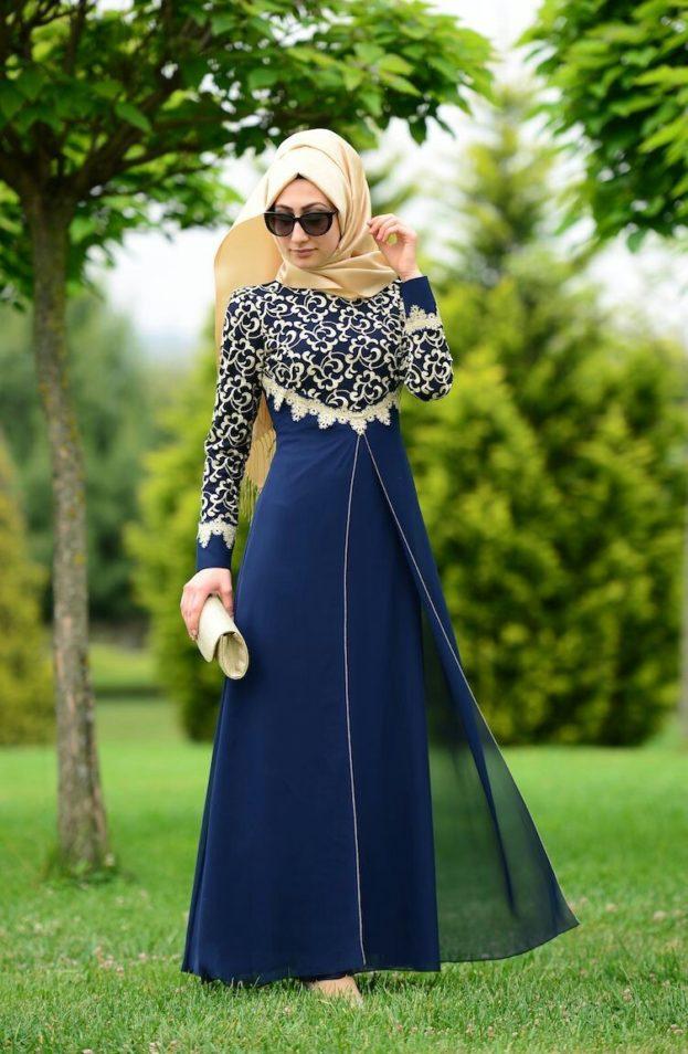 بالصور صور فساتين للمحجبات , اجمل صور الفساتين للمحجبات 3676 3