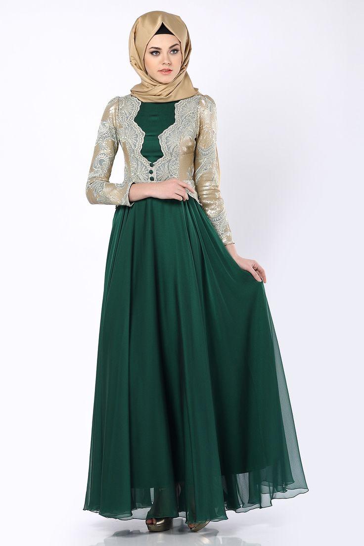 بالصور صور فساتين للمحجبات , اجمل صور الفساتين للمحجبات 3676 4