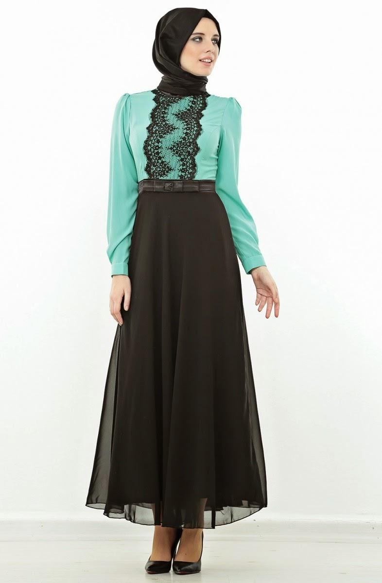 بالصور صور فساتين للمحجبات , اجمل صور الفساتين للمحجبات 3676 5