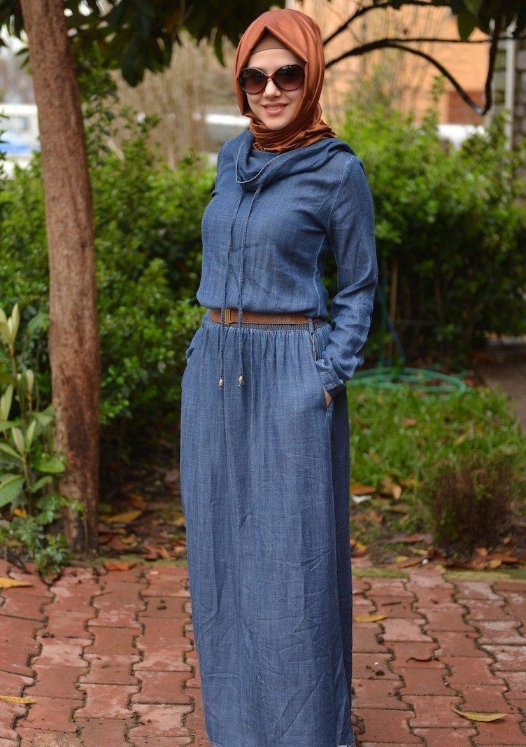 بالصور صور فساتين للمحجبات , اجمل صور الفساتين للمحجبات 3676 6