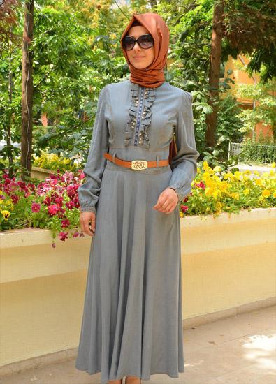 بالصور صور فساتين للمحجبات , اجمل صور الفساتين للمحجبات 3676 9