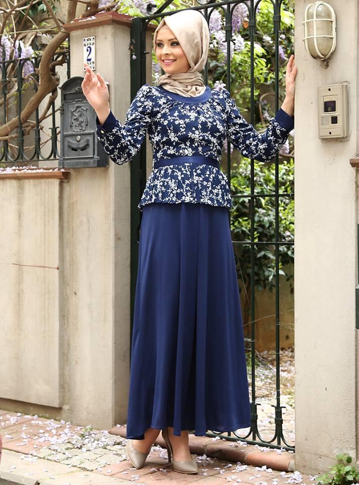 بالصور صور فساتين للمحجبات , اجمل صور الفساتين للمحجبات 3676