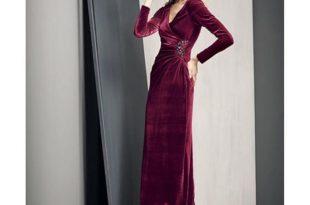 بالصور موديلات فساتين مخمل , اجمل واشيك وارق الفساتين المخملية 327 27 310x205