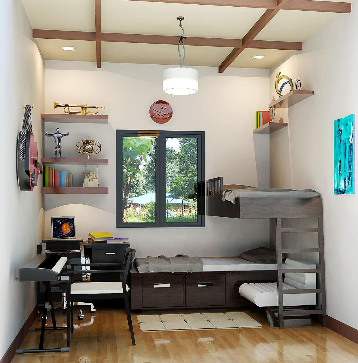 بالصور غرف شباب , اجمل الغرف للشباب والتجديد والافراد فى الديكورات 3647 12