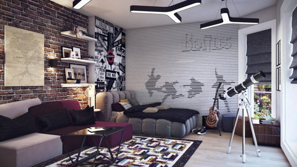 بالصور غرف شباب , اجمل الغرف للشباب والتجديد والافراد فى الديكورات 3647 6