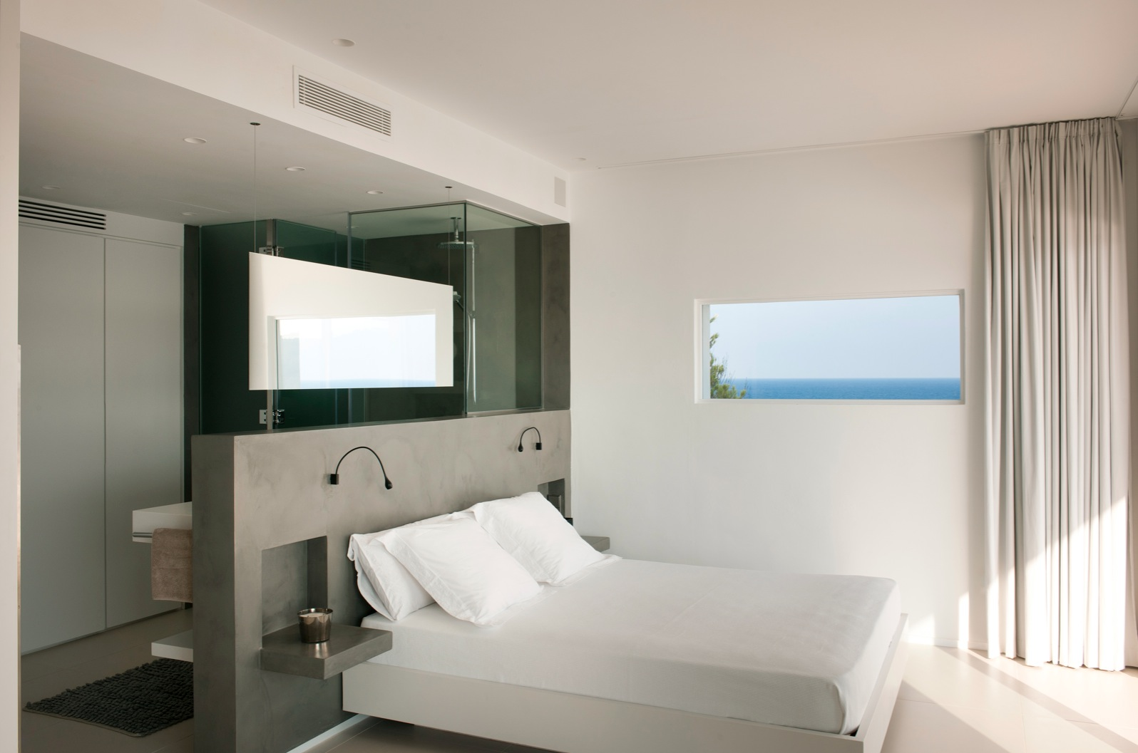 صوره حمامات داخل غرف النوم , ديكور لغرف النوم ووجود حمام داخل الغرفه