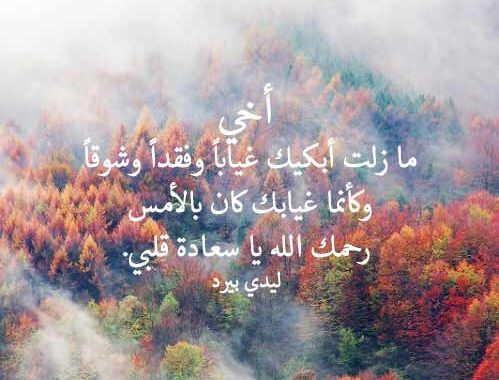 بالصور شعر عن فراق الاخ , اجمل ما قيل من قصائد شعرية عن فراق الاخ 3833 9