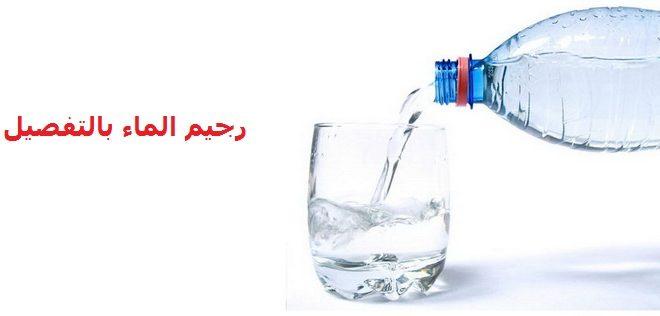 صورة رجيم الماء فقط , معلومات عن رجيم الماء فقط