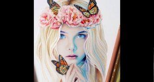 صوره رسومات بنات جميلة , رسومات للبنات جميلة و روعة