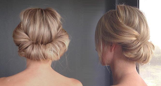 بالصور تسريحات شعر بسيطة , سرحي شعرك تسريحات بسيطة و رقيقة 3855 15