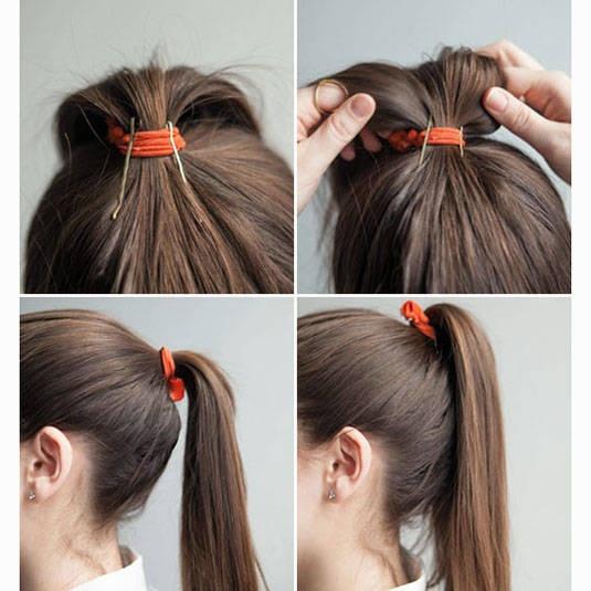 بالصور تسريحات شعر بسيطة , سرحي شعرك تسريحات بسيطة و رقيقة 3855 17