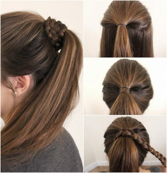 بالصور تسريحات شعر بسيطة , سرحي شعرك تسريحات بسيطة و رقيقة 3855 3
