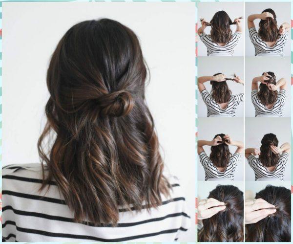 بالصور تسريحات شعر بسيطة , سرحي شعرك تسريحات بسيطة و رقيقة 3855 4