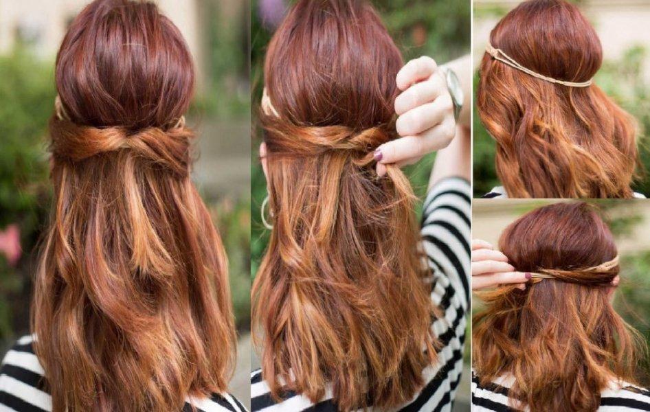 بالصور تسريحات شعر بسيطة , سرحي شعرك تسريحات بسيطة و رقيقة 3855 5
