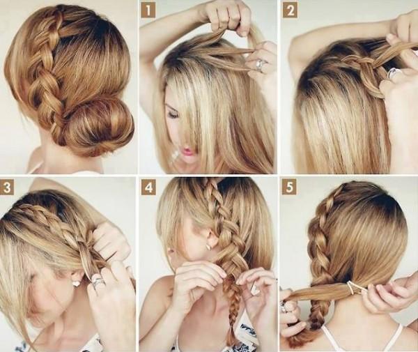 بالصور تسريحات شعر بسيطة , سرحي شعرك تسريحات بسيطة و رقيقة 3855 6