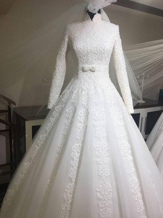 بالصور فساتين زفاف فخمه , شاهد افخم و اجمل فساتين زفاف 4107 3