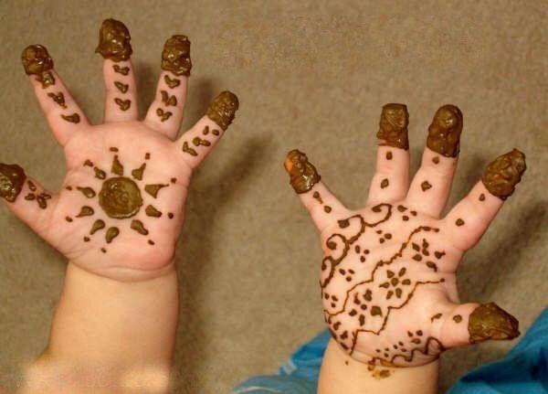 بالصور رسومات حنة للاطفال , رسومات حنة روعة للصغار 4828 4
