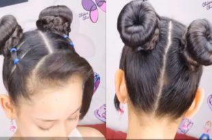 صوره تسريحات شعر للاطفال , تسريحات شعر سهلة للبنات الصغار