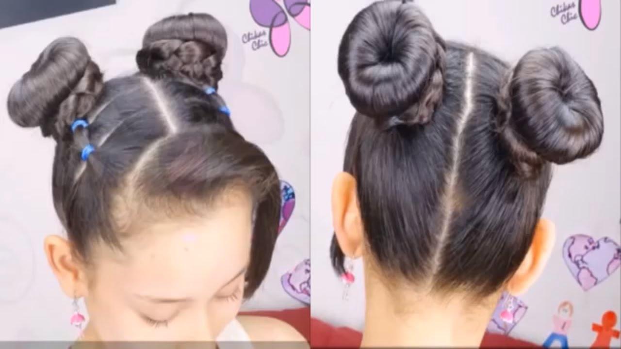 صورة تسريحات شعر للاطفال , تسريحات شعر سهلة للبنات الصغار