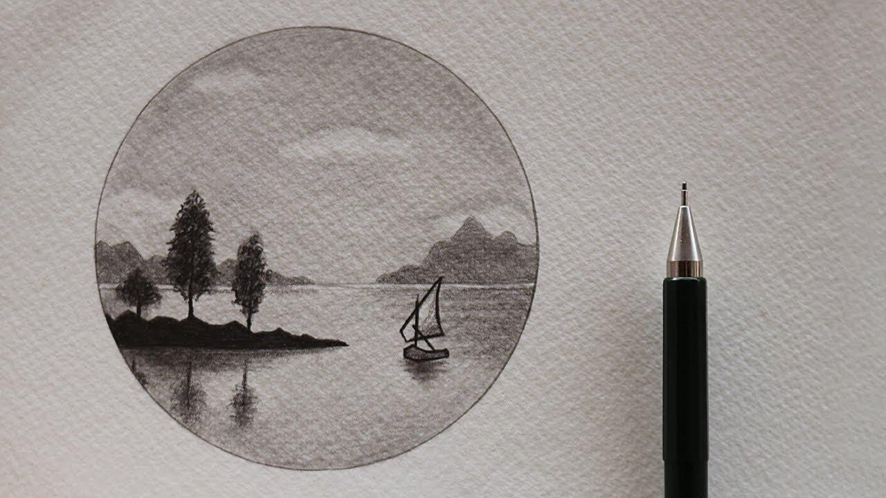 بالصور رسم طبيعة بالرصاص , اجمل الرسومات بالرصاص للمناظر الطبيعية 11011 4