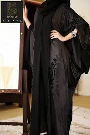 صورة عبايات مخمل , موضة المراة الخليجية