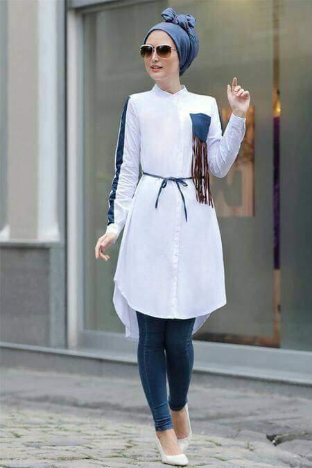 بالصور ملابس محجبات , اشيك موديلات ملابس المحجبات الكاجوال 5718 6
