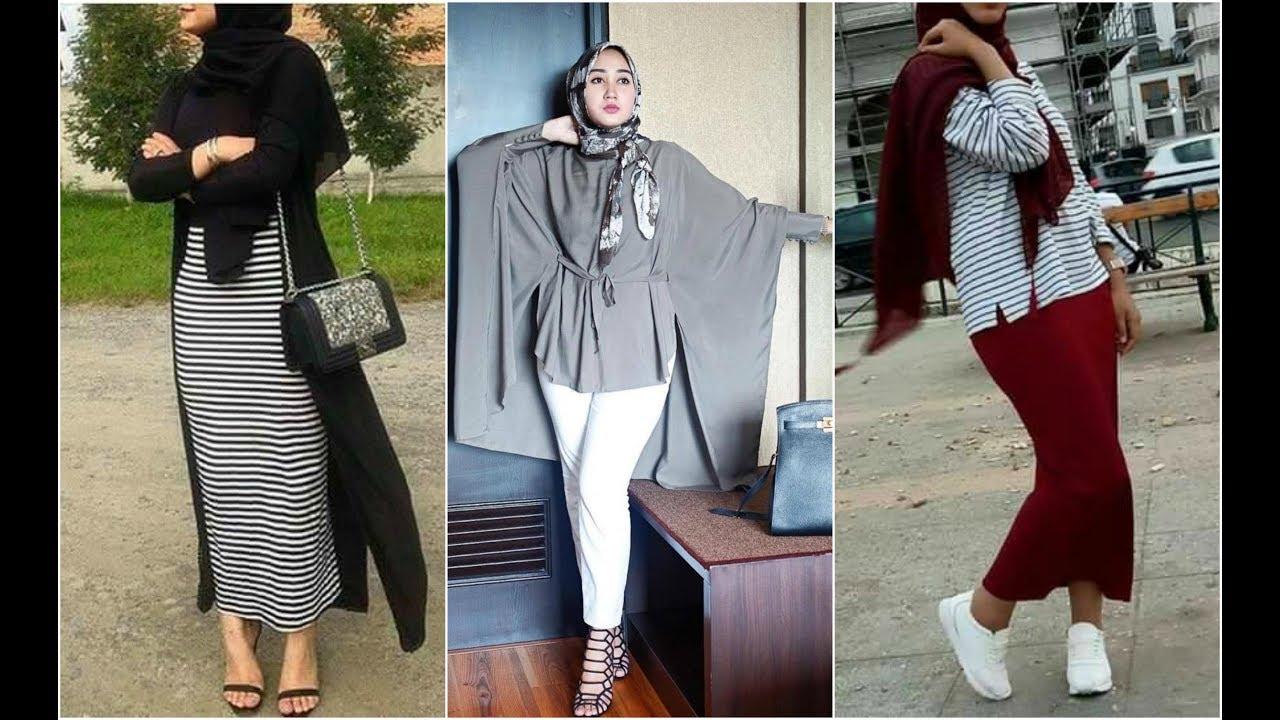 بالصور ملابس محجبات , اشيك موديلات ملابس المحجبات الكاجوال 5718 8