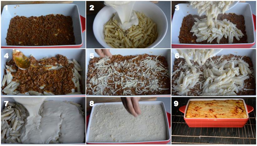 صورة طريقة عمل المكرونة بالبشاميل بالصور , اسهل طريقة لعمل المكرونة بالبشاميل في المنزل