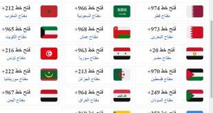 صورة رموز الدول العربية , مفاتيح ورموز وارقام الدول العربية