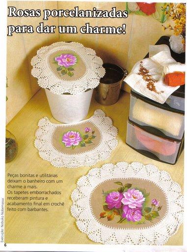 صور كروشيه للمطبخ والحمام , افكار لتزيين المطبخ والحمام