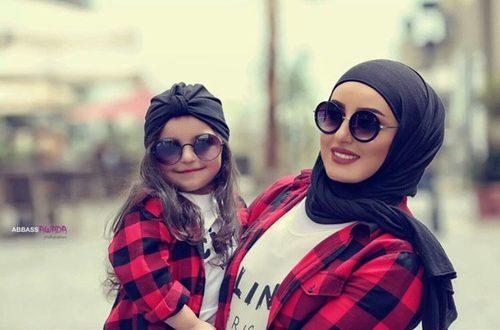صورة ام مع ابنتها , ملابس الام والبنت