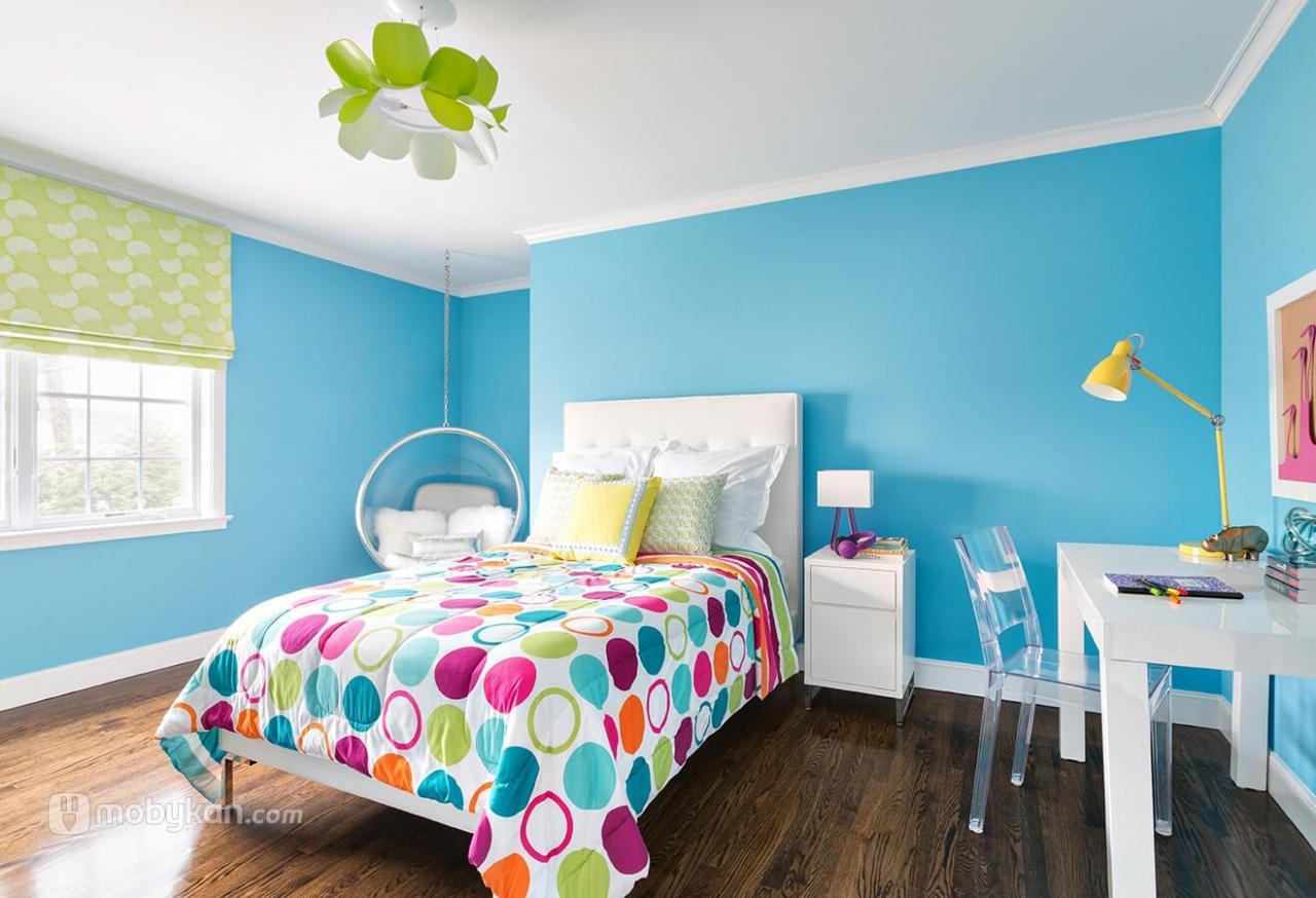صور الوان حوائط غرف نوم اطفال , ديكورات حوائط طفولية