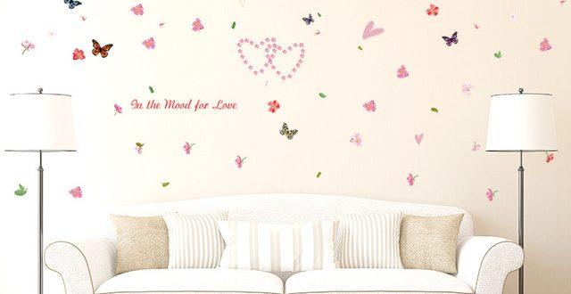 صورة رسومات علي الحائط ملونه بالدهانات , ديكورات حوائط مرسومة
