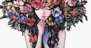 صور رسومات بنات ملونة , اجمل صور رسومات للبنات ملونة