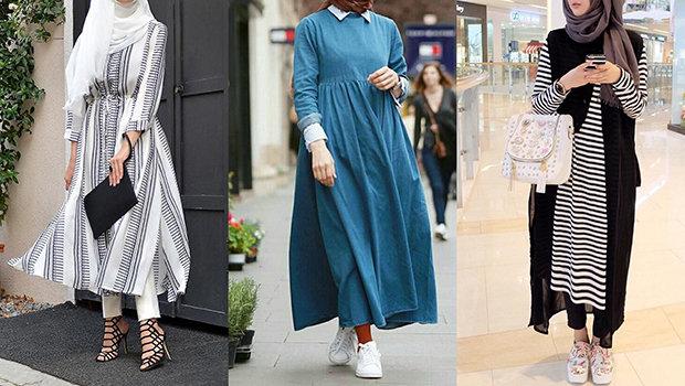 صورة ملابس محجبة 2019 , موضة 2019 للمحجبات