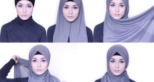 صور طريقة لف الحجاب السوري , الحجاب السوري بالصور