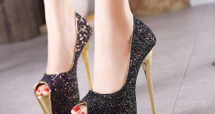 صور احذية كعب عالي للسهرات , شوزات عالية للسهرات