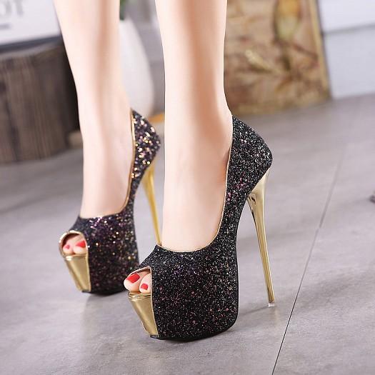 صورة احذية كعب عالي للسهرات , شوزات عالية للسهرات